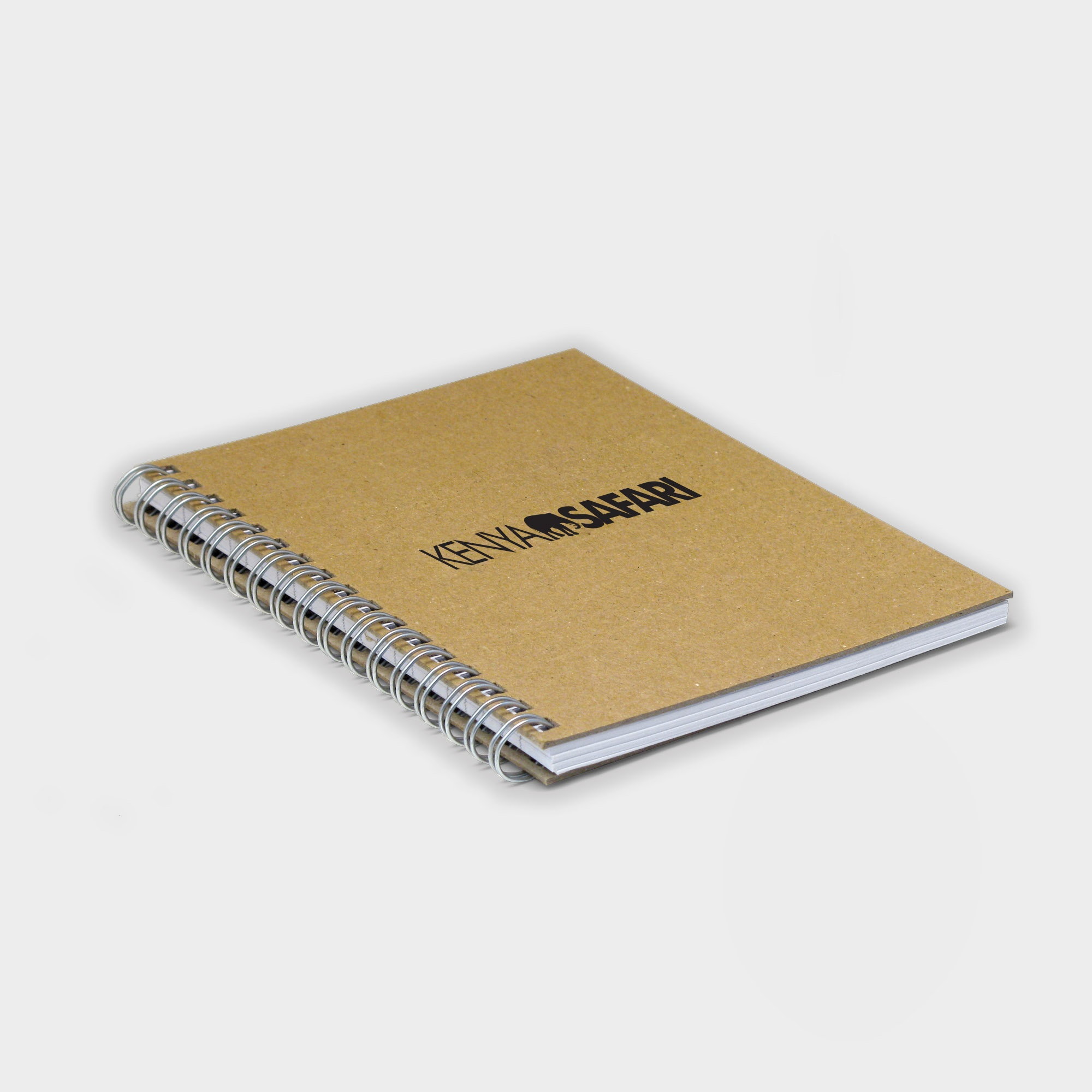 The Gloweasy Green & Eco  A6 Wire Notebook, Recycled Board & Paper